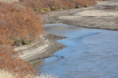 Reservoir drawn down for work