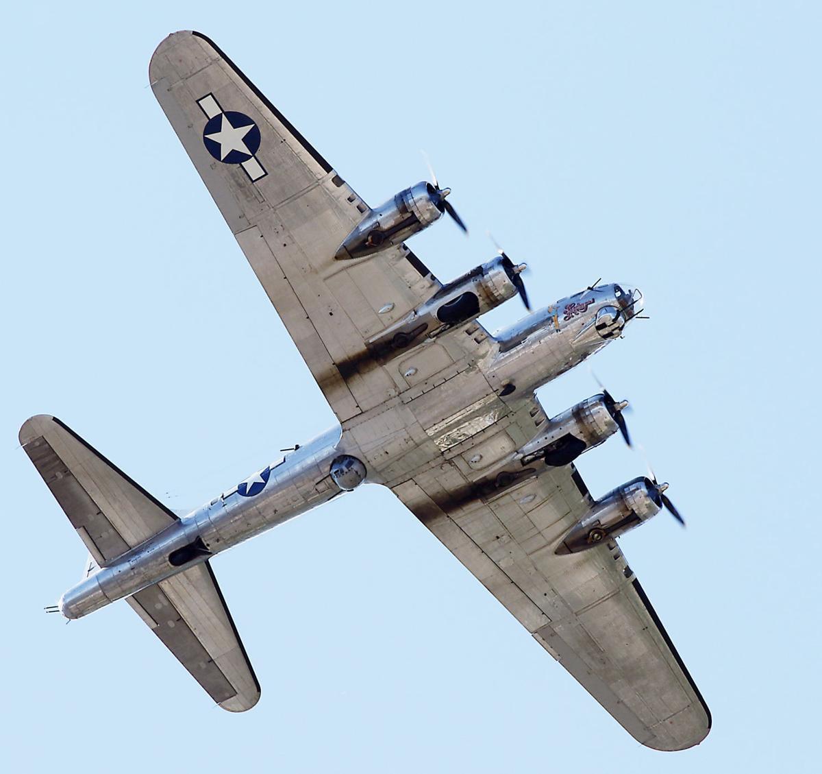 """Arrival of B-17G """"Sentimental Journey"""""""