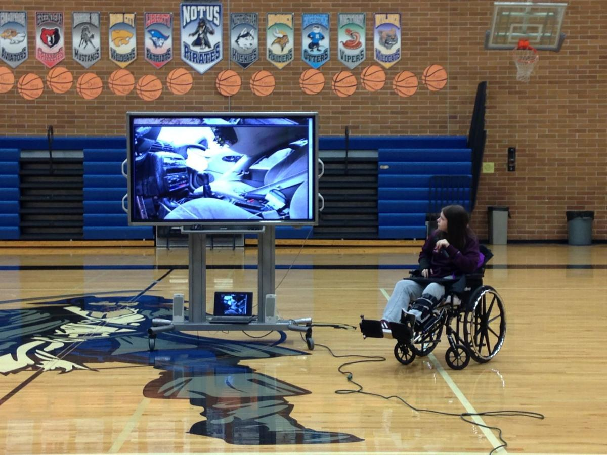 Notus High School Graduate Maddie Teague Now 21 Gives A Presentation To Students About The Importance Of Wearing Seat Belt Was In Rollover