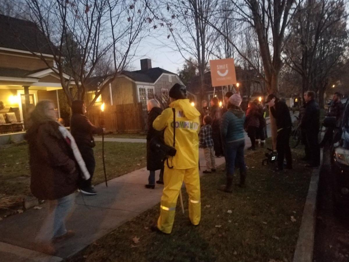 McLean home protest