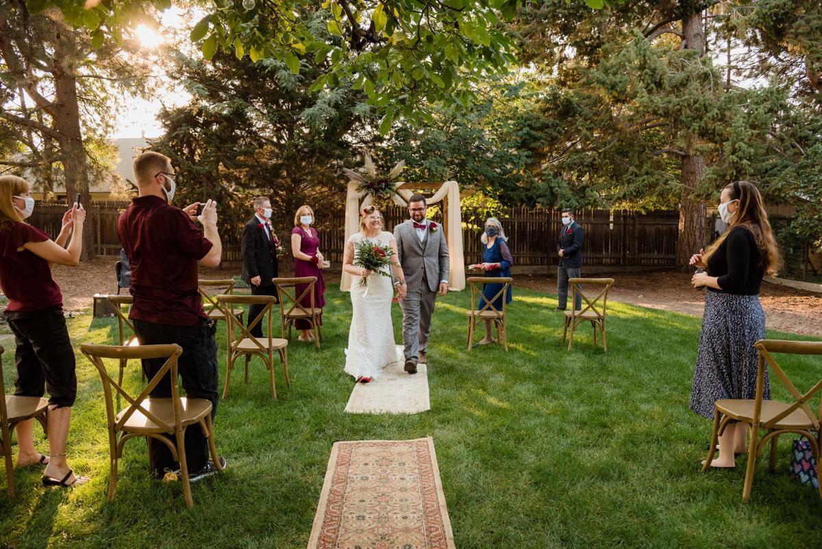 Kelly & Darius Backyard Wedding