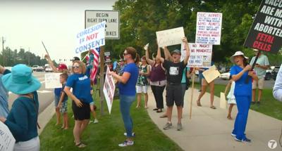 St. Luke's Meridian protest