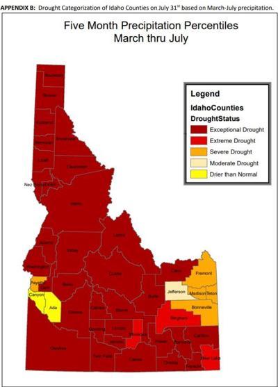 Idaho drought graphic