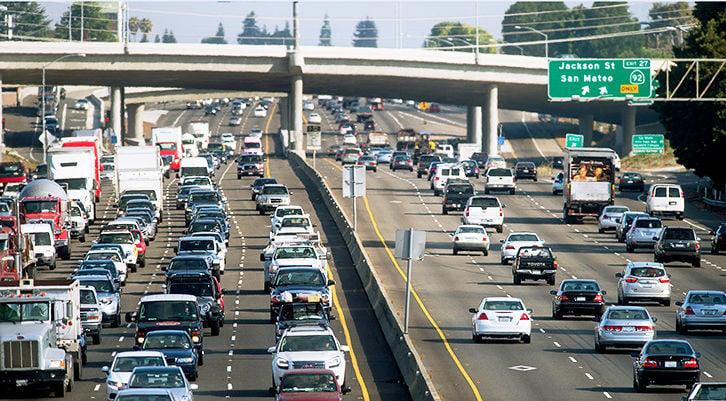 HOV lanes file photo
