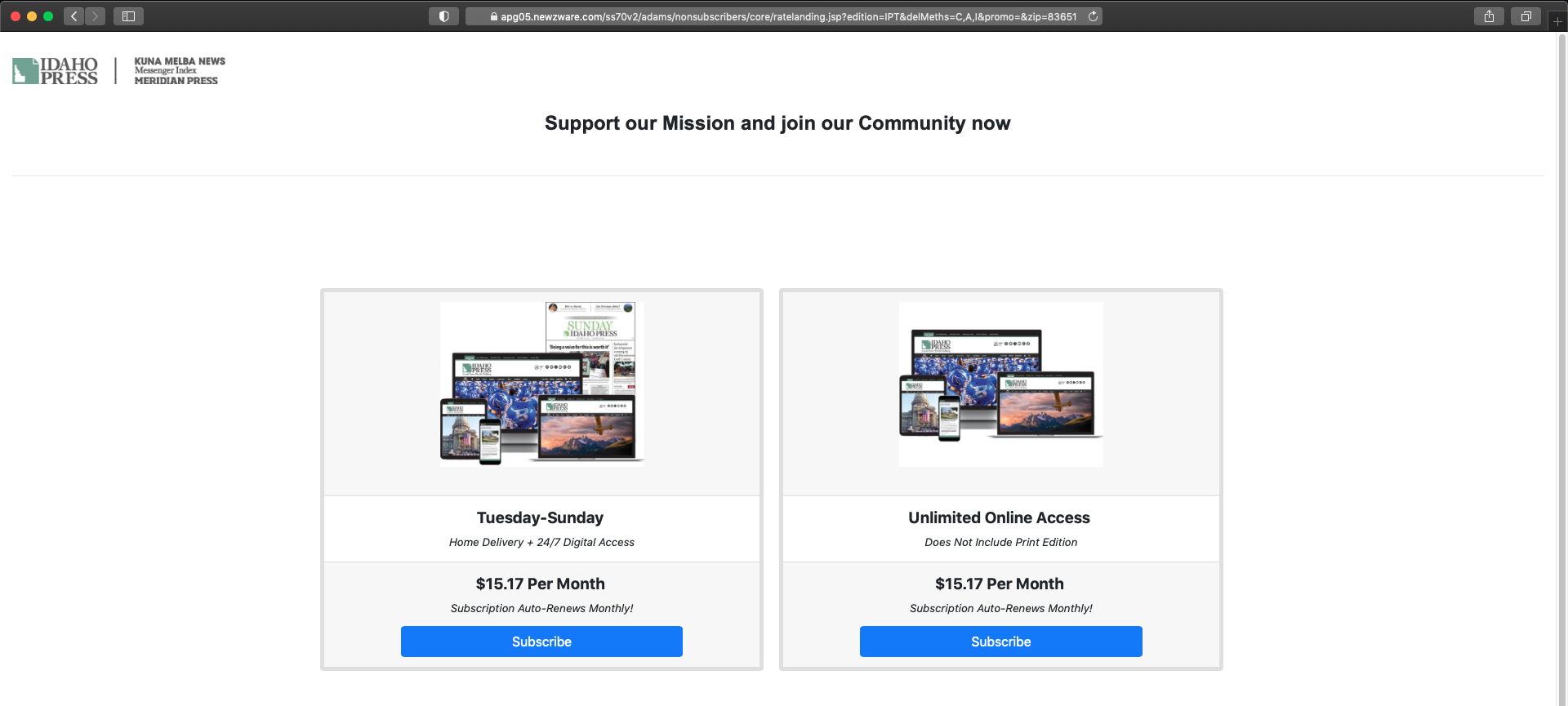 Site header screenshot.