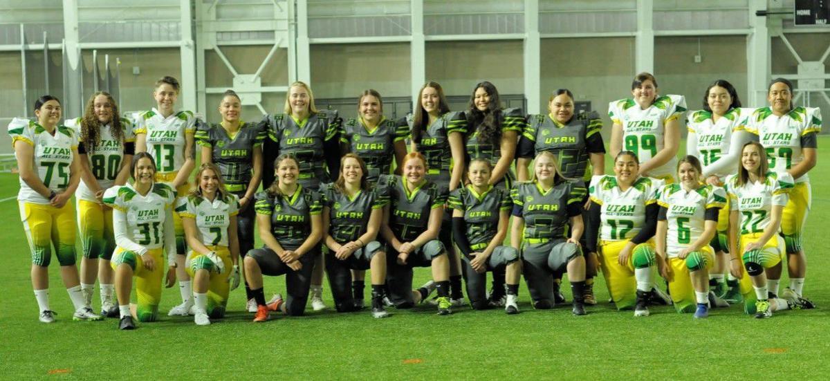 Utah Girls Tackle Football League All-star group photo Pro Bowl