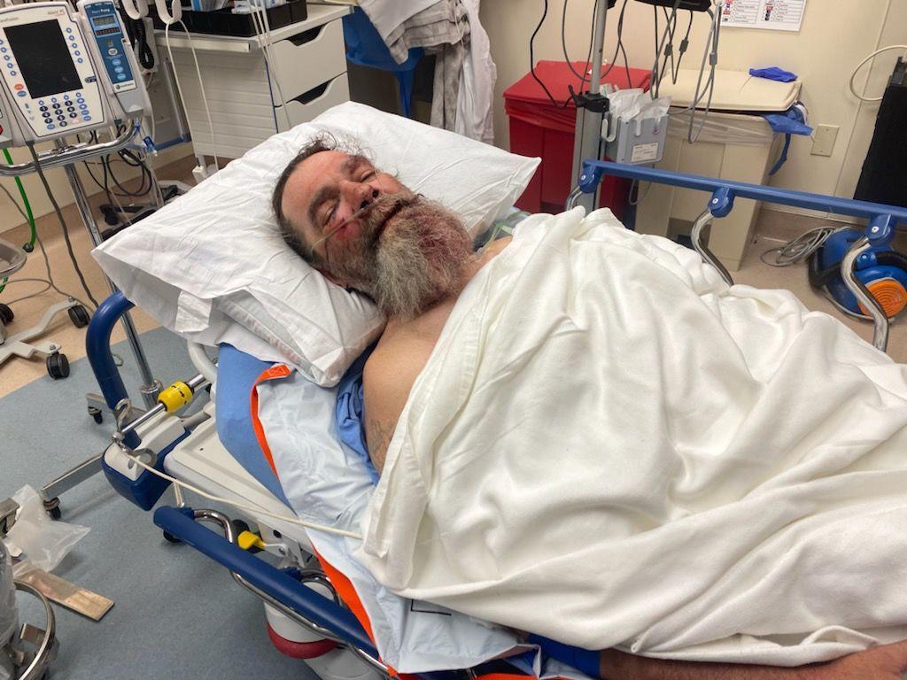 Edward Stevens injured in hospital