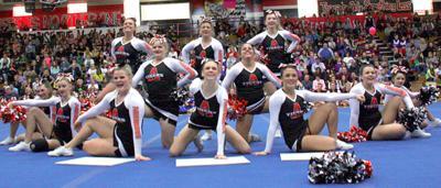 Aberdeen High  School Cheer team