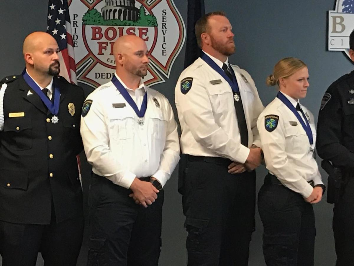 Boise police officer thanks paramedics who saved his life