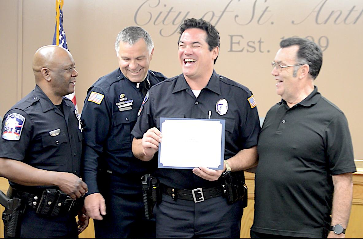 """""""Superman"""" joins St. Anthony Police Department Reserves"""