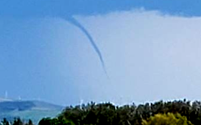 Funnel cloud in East Idaho