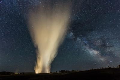 Old Faithful & The Milky Way