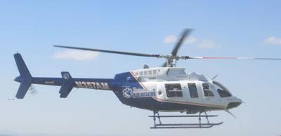 Air ambulances transport accident victims