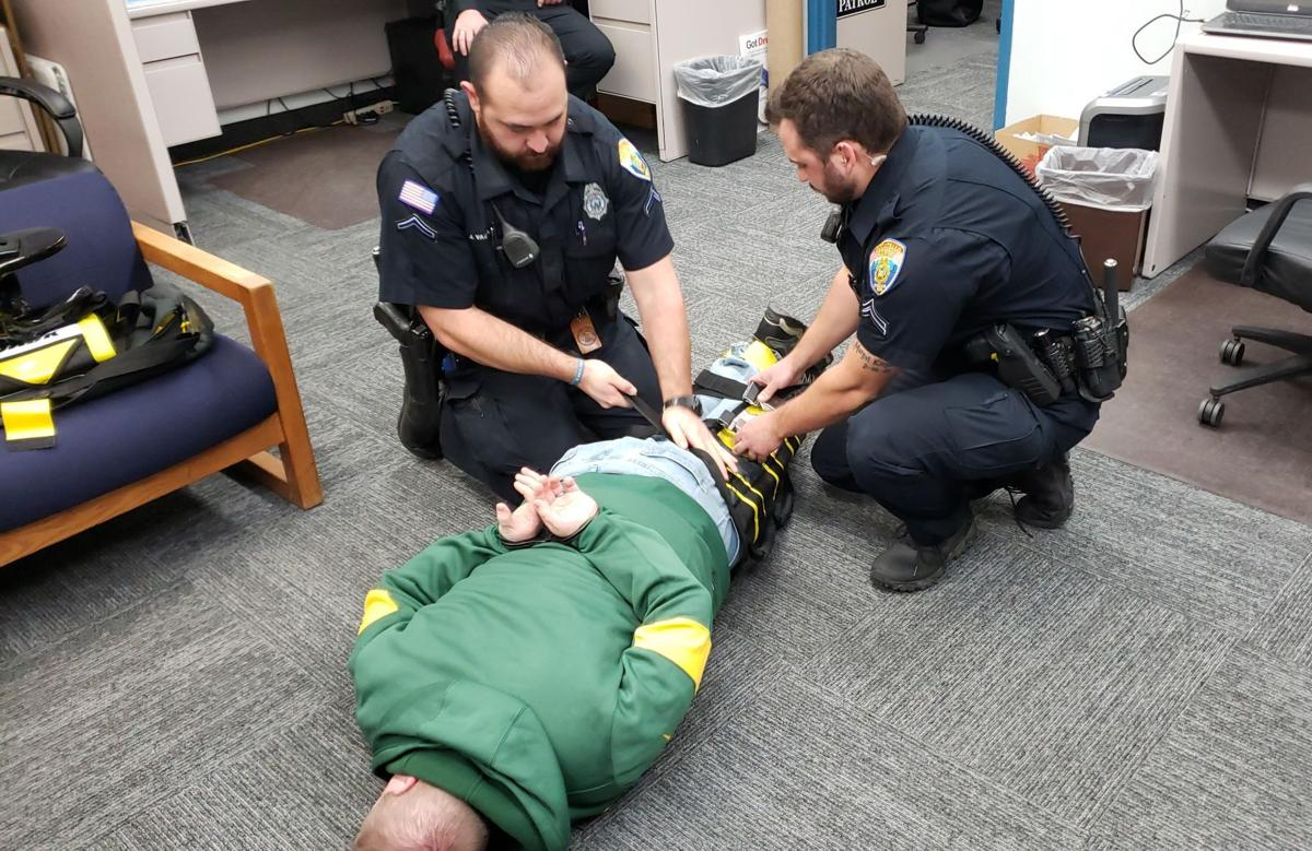 PPD installing The WRAP restraint device