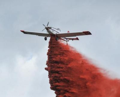 Air tanker wildfire file photo stock image