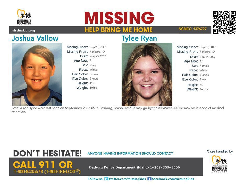 JJ and Tylee missing flyer