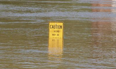 Weather service warning about East Idaho rivers stock image file photo flooding flood