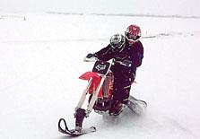 Dirt Bike Snowmobile >> Riding Dirt Bike Converted Into A Snowmobile Is A Lot Of Fun Local
