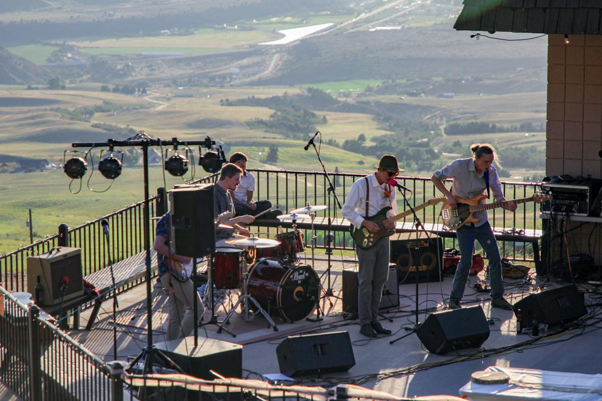 Pebble Creek wedding, band playing