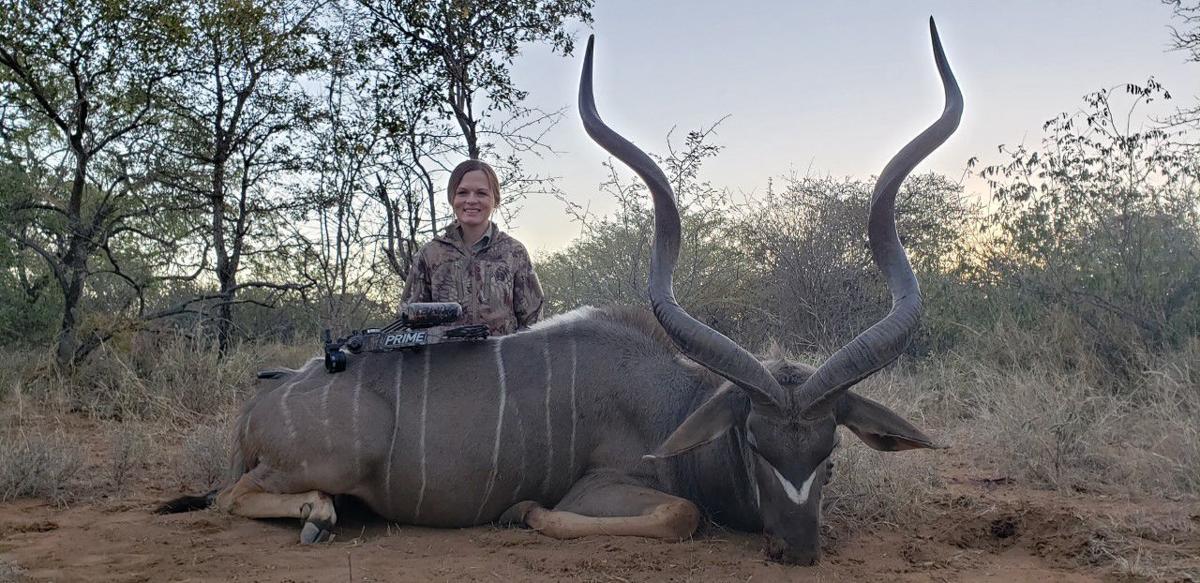 Lindsay Christensen with Eastern Cape Kudu