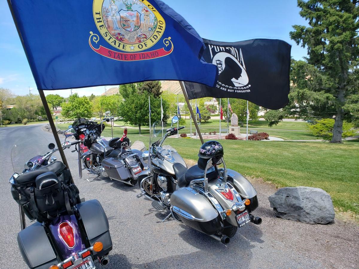 POW*MIA bikes at Upper Ross Park 2020 Thunder Run