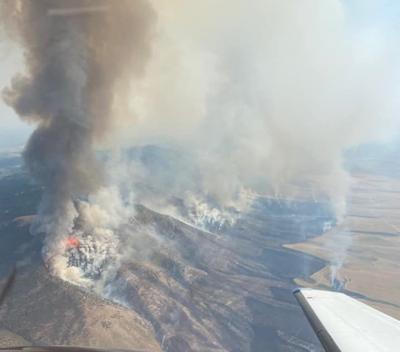 Lusk Fire near Bannock-Power county border