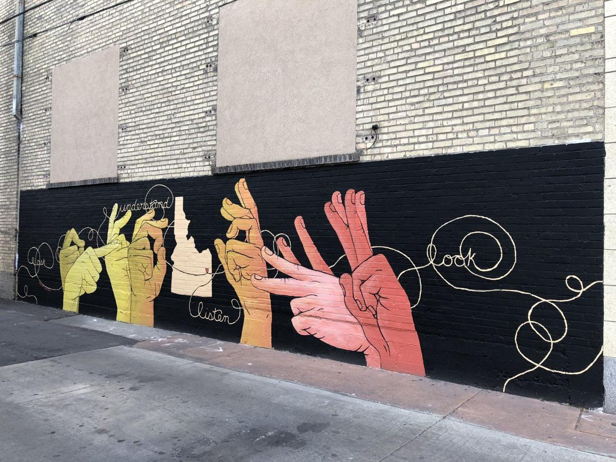 Downtown mural - wide