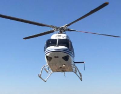 Emergency helicopter air ambulance stock image file photo