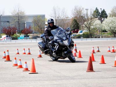 ISP motorcycle trooper.