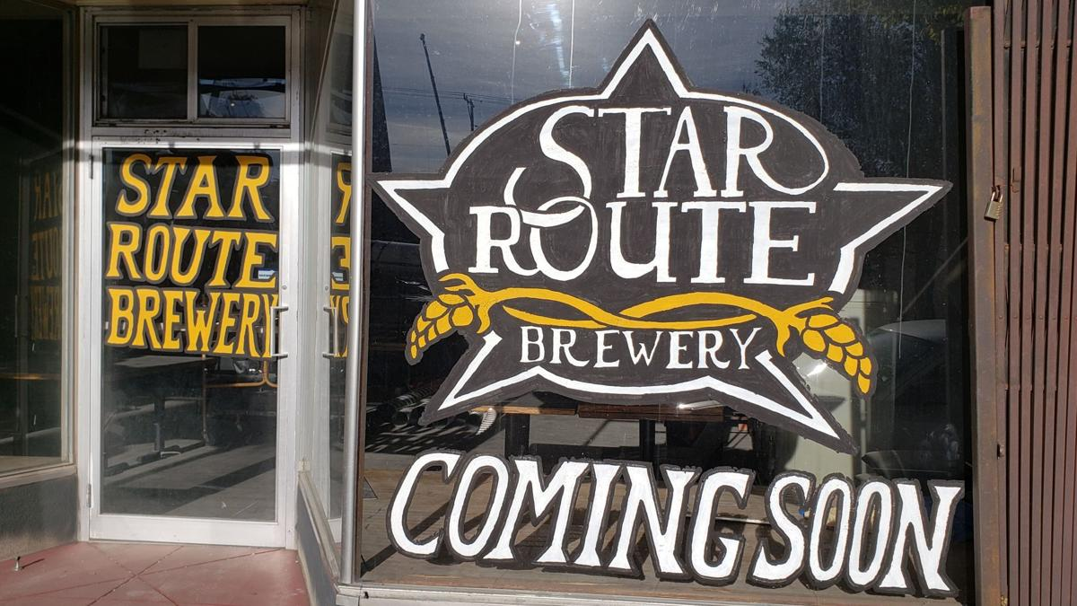 Star Route Brewery front signage