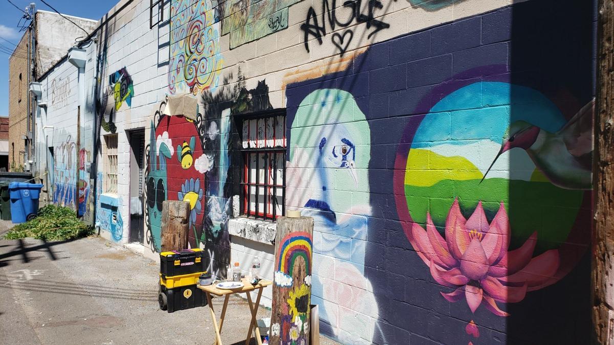 Old Town Alley Outdoor Gallery 2020 (lotus, hummingbird)