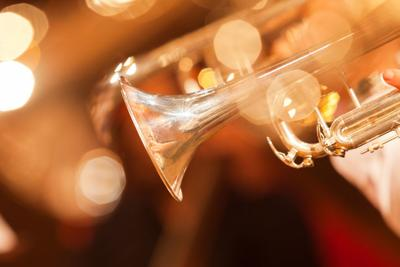 Detail of the trumpet closeup