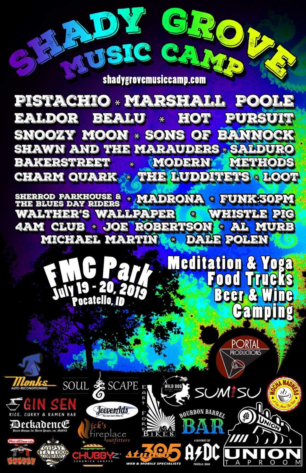 Shady Grove Music Camp Flyer