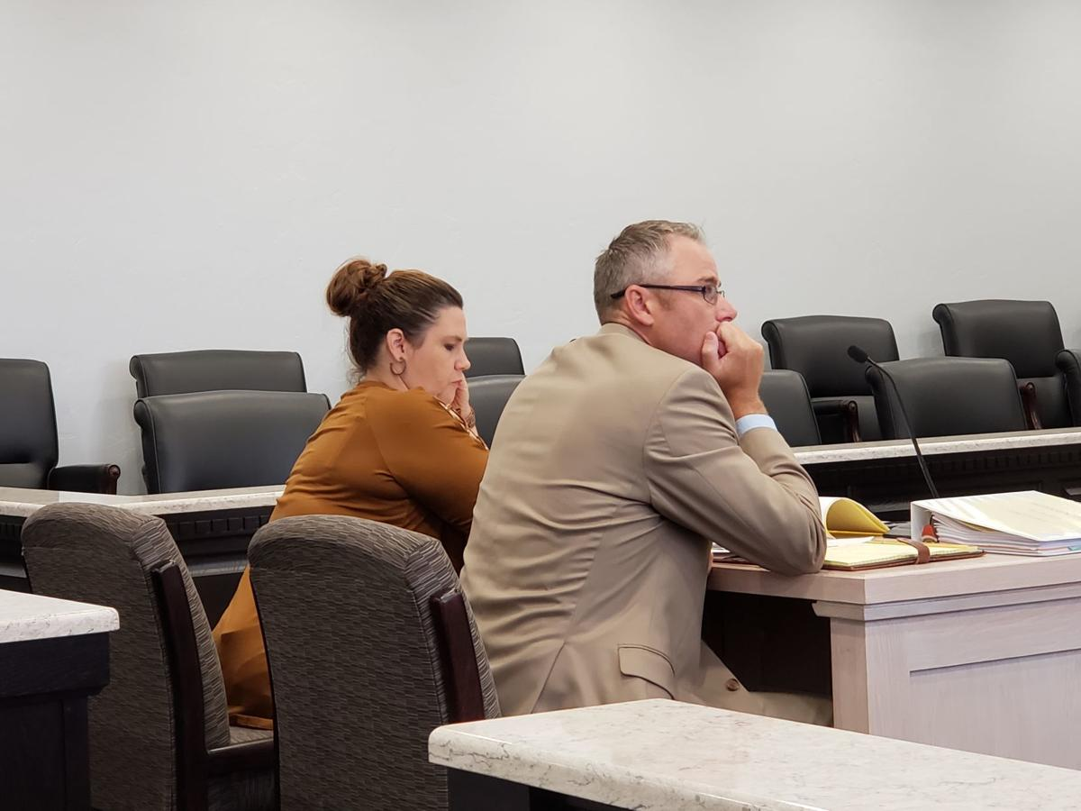 Tiffany Petersen and Reichert in court (Sept)