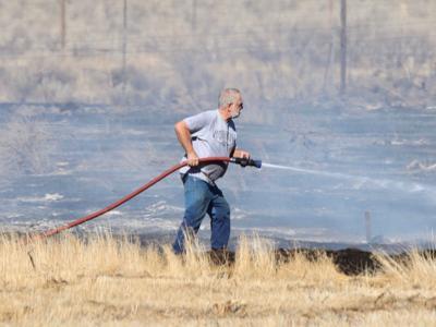 Pocatello-Inkom brush fire