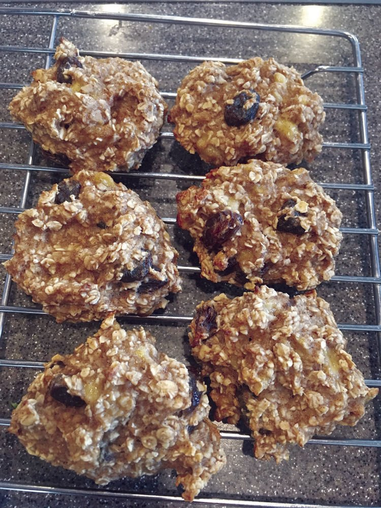 Belle's Banana Oatmeal Cookies