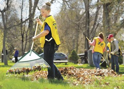 LDS cemetary cleanup