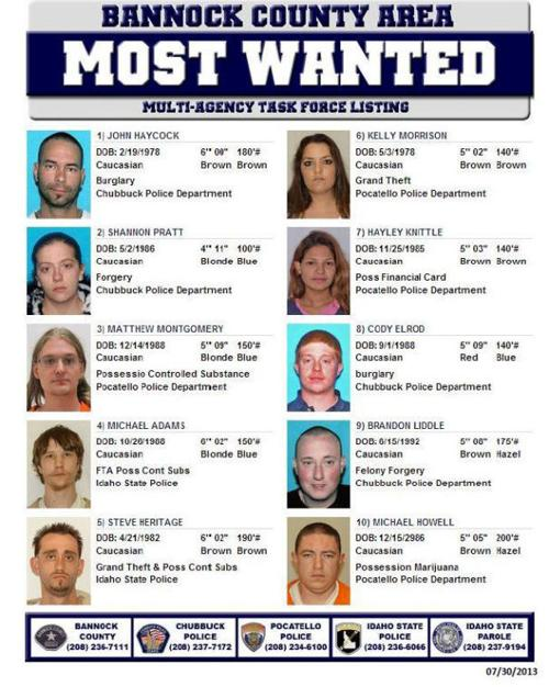 Bannock County Most Wanted | | idahostatejournal com