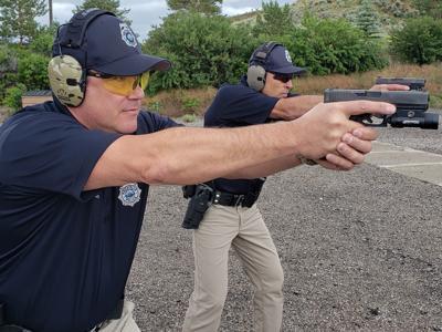 Dean Cain and Royce Gracie firearm training