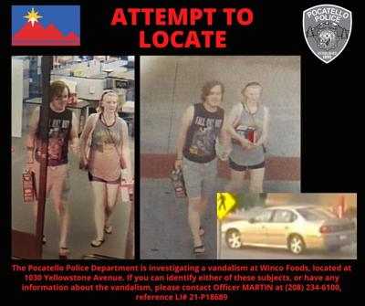 Pocatello police looking for vandalism suspects