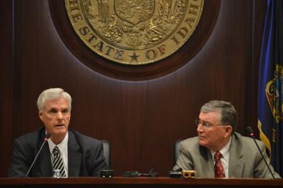 Senate President Pro Tempore Brent Hill, R-Rexburg, and Speaker of the House Scott Bedke, R-Oakley