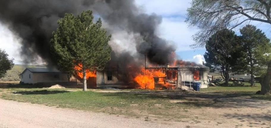 Fort Hall Edmo Road fire
