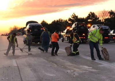 10-vehicle wreck