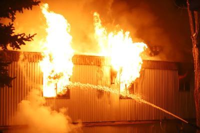 Mobile home fire in Pocatello