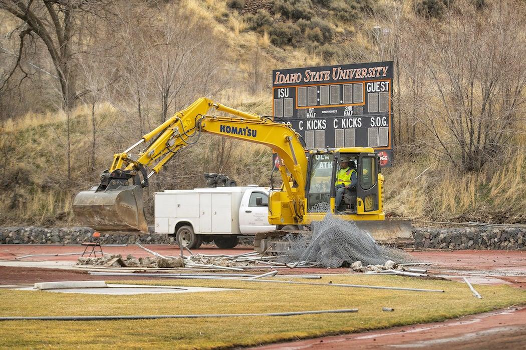 Davis Field construction