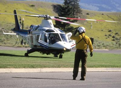 Emergency helicopter air ambulance stock image file photo