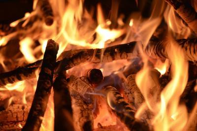 Fire flames-close up