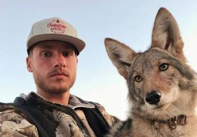 Man and his coyote