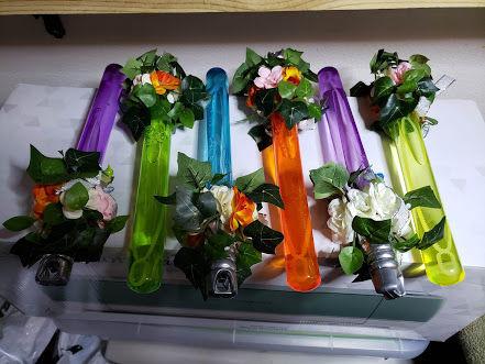 Star Wars wedding flower assemblies