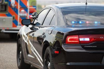 State police ambulance stock image